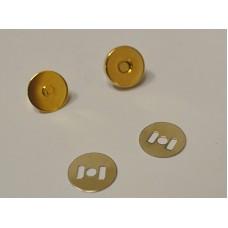 Conf. 5 pz.Chiusure magnetiche mm 14 Oro