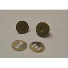 Conf.5 pz.Chiusure magnetiche mm 14 Ottone Antico
