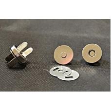 Conf.5 pz Chiusure magnetiche mm 18 Nichel