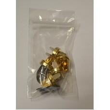 Conf. 5 pz.Chiusure magnetiche mm 18 Oro