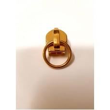 Cursori ORO con anello per lampo a spirale continua nylon mm 6 -  Confezione 10 pezzi