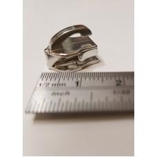 Cursori nichel  a ponte alzato per lampo a spirale continua nylon mm 6 -  Confezione 20 pezzi