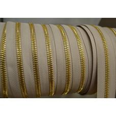Cerniera lampo metallo spazzolata mm 5 Oro