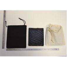 Sacchetto per piccola pelletteria cm 12x16 in cotone Nero o grezzo