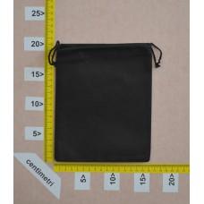 Sachetto per minuteria o cinture in polibond nero cm 16x20