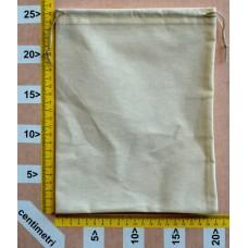 Sacchetto per cinture cm 20x25 in cotone grezzo