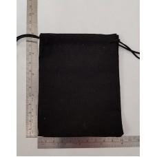Sacchetto minuteria cm 10x13 cotone nero