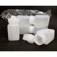 flacone plastica 100cc rettangolare doppio tappo conf. 4 Pz.
